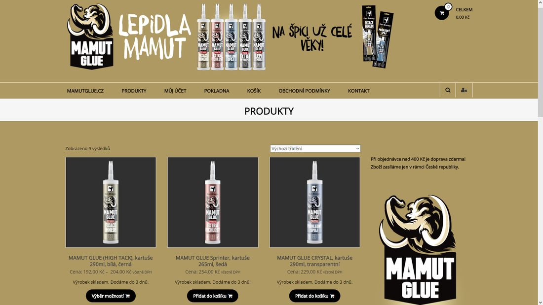 Shop.MamutGlue.cz